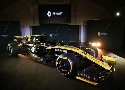 Presentan el Renault F1 2019