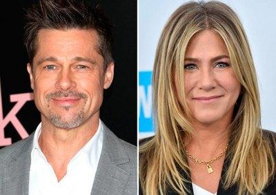 Brad Pitt en el cumple de Jennifer Aniston
