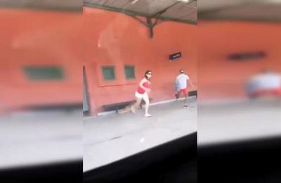 Indignación por mujer que abandona a su perro en una estación de trenes