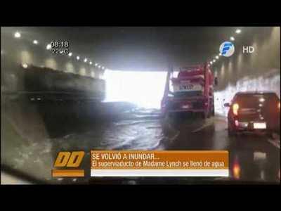 El Superviaducto se volvió a inundar