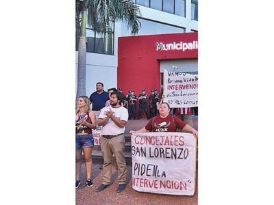 Exigieron la intervención de   San Lorenzo