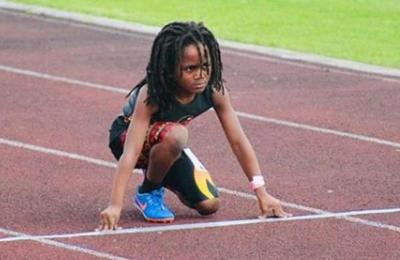 El niño de 7 años que nadie puede parar y que ya comparan con Usain Bolt
