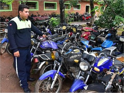 Más de 500 motos incautadas de la vía pública irán a remate