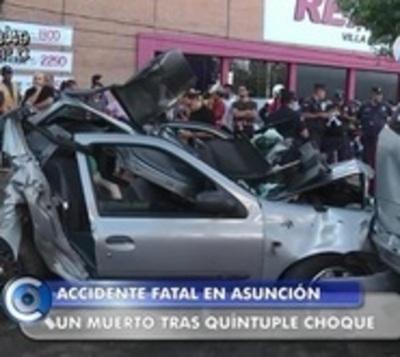 Un muerto y siete heridos tras choque en cadena