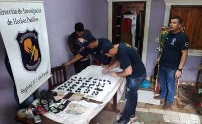 Microtraficante detenido en allanamiento