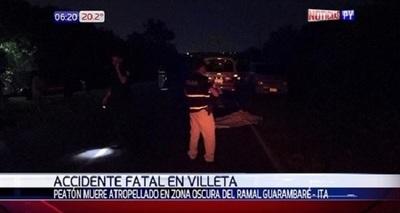 Peatón muere arrollado en Villeta