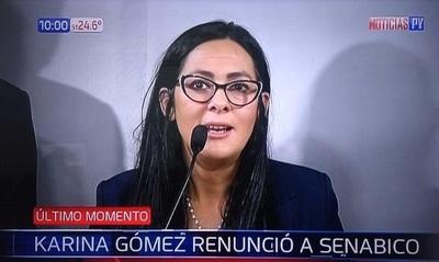 Renuncia ministra de la Senabico