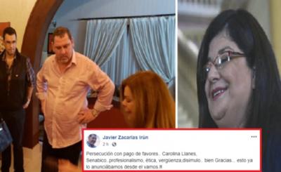 Zacarías critica nombramiento de Carolina Llanes