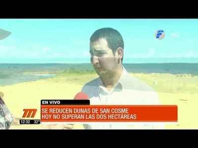 Preocupante reducción de las Dunas de San Cosme
