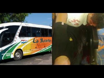Matan a balazos a dos policías en el interior de un colectivo que partió de Encarnación