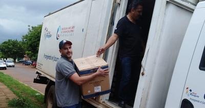 Llegan unas 200 mil dosis de vacunas para distribuir en Alto Paraná