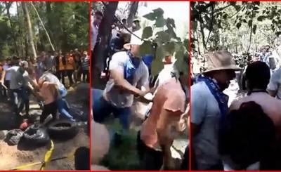 """Brutal recibimiento a """"Bichos"""" en la UNCA"""