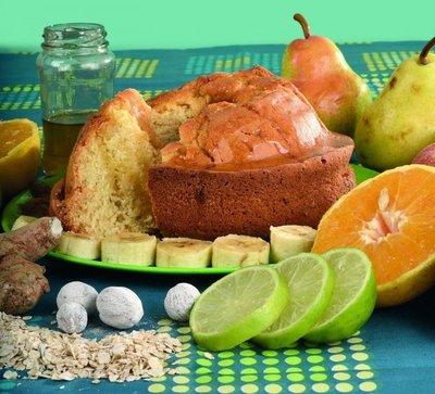 Tortas con frutas y especias