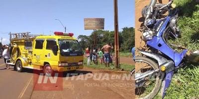 Adolescente muere en un accidente a bordo de una moto