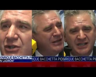 """Bachetta rompió en llanto por enlace de """"TeleShow"""" frente a su domicilio"""