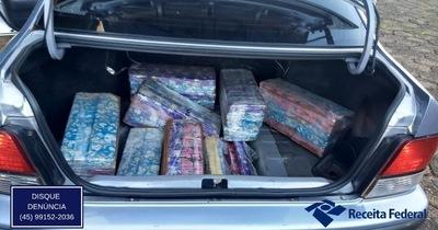 Requisan vehículo con placa paraguaya transportando marihuana