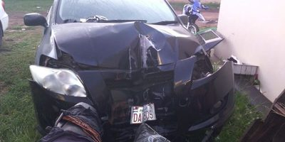 Accidente frente a la municipalidad de Villarrica