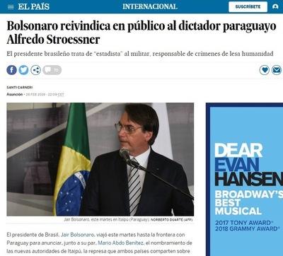 """Trató de """"estadista"""" al dictador, resaltó El País de España"""