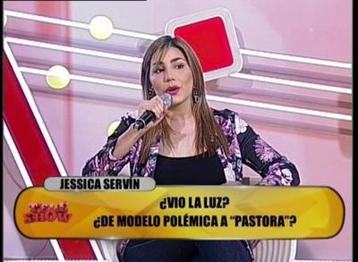 "La nueva Jessica Servín visitó ""TeleShow"""