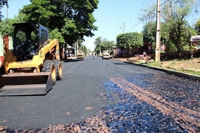 Concluye primera parte de tareas de pavimentación de avenida Amambay