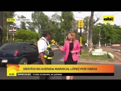 Desvíos en Avenida Mariscal López por obras