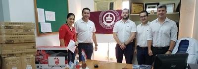 Representantes de la UPAP-Ciudad del Este, realizó donación a hospital