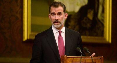 El rey de España se reúne con la vicepresidenta argentina en Madrid