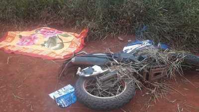 Motociclista cae de su biciclo y muere desnucado en Minga Guazú