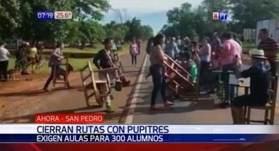 Cierran ruta con pupitres exigiendo aulas para 300 alumnos – Prensa 5