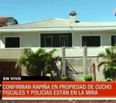 Confirman 'rapiña' a bienes de Cucho, investigan a policías y fiscales