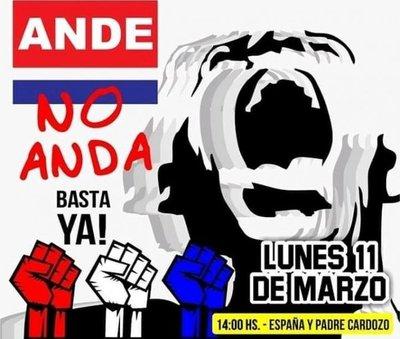 Organizan una protesta contra la ANDE
