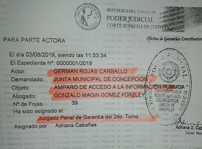 Intendente y Junta Municipal violan ley de acceso a información pública y son demandados