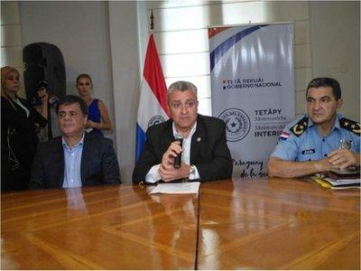 Villamayor defiende operativo policial con recursos de la ANDE
