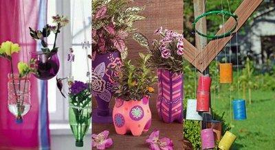 Con elementos reciclados podés decorar tu casa y, a la vez, cuidar el ambiente