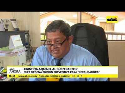Cristina Aquino, al Buen Pastor