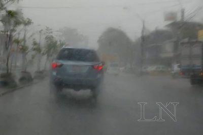 Intensas lluvias con tormentas eléctricas