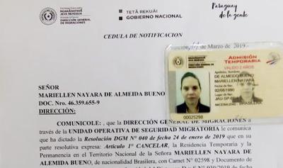 Migraciones cancela residencia a supuesta estudiante brasileña que ejercía irregularmente trabajos de gestoría en CDE