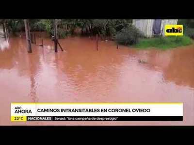 Caminos intransitables en Coronel Oviedo