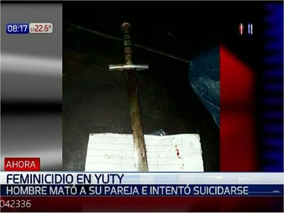 Feminicidio en Yuty: Mujer es asesinada con un espadín