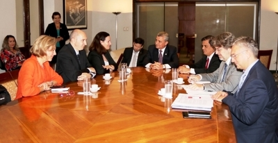 Ministro detalló proceso de reforma electoral a representante de la UE