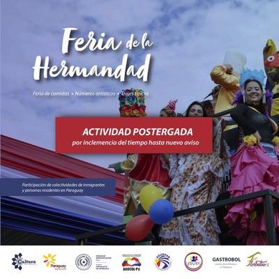 """Posponen por lluvia la """"Feria de la hermandad"""""""