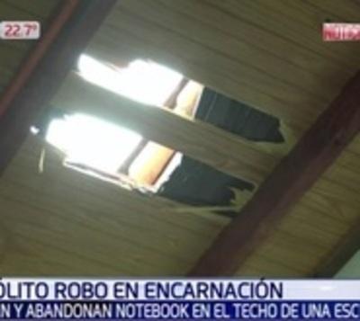 Intento de robo: Asaltantes dejaron notebooks abandonadas en el techo