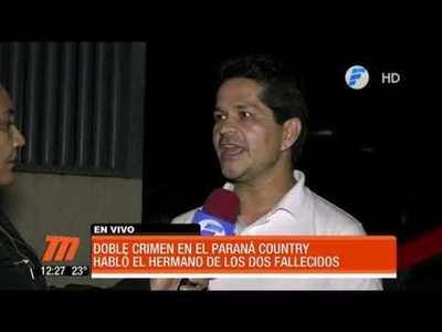 Habló el hermano de los asesinados en el Paraná Country Club