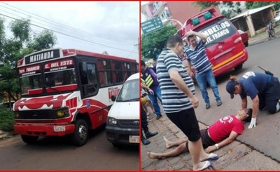 Conductor de ómnibus se da a la fuga luego de embestir por un biciclo