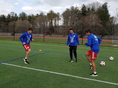Primeros trabajos de la selección paraguaya en Estados Unidos