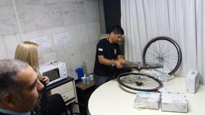Detectan cocaína en ruedas de bicicleta y nebulizadores