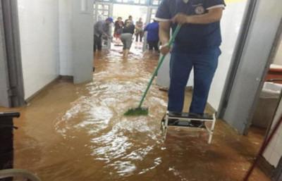 """""""Arreglamos ya prácticamente un 98% del hospital"""""""