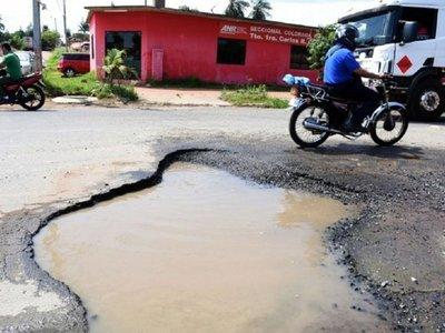 """""""Todas las calles de San Lorenzo están intransitables"""""""
