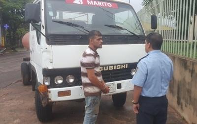 En Horqueta, policía recupera un camión hurtado