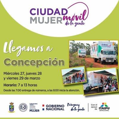 Ciudad Mujer Móvil ofrecerá sus servicios en Concepción